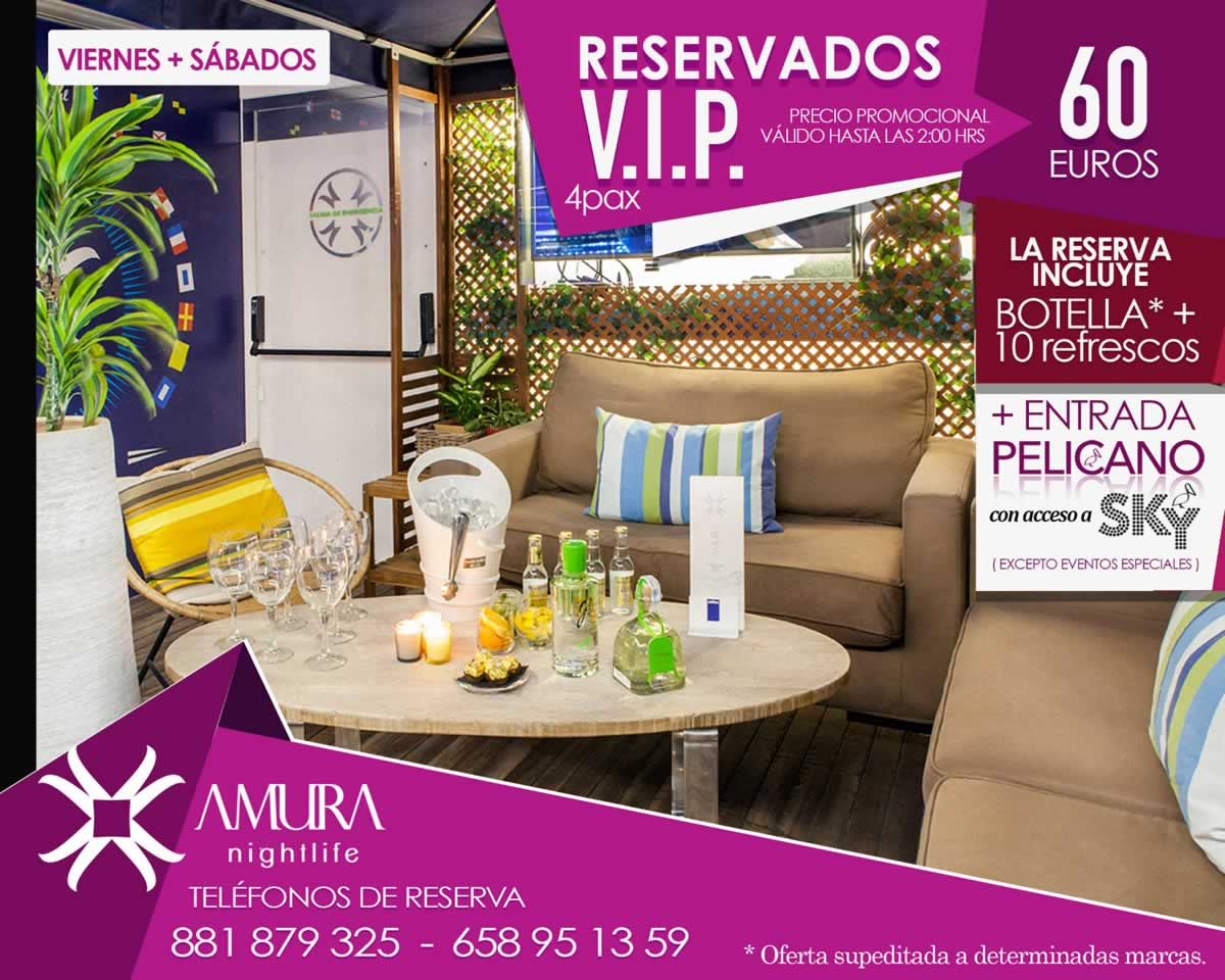 Reservado Chill-out Viernes Sabados